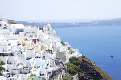 Fira city on Santorini sland Stock Images