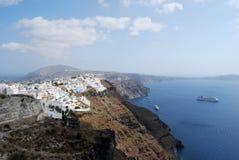 Fira da Imerovigli Santorini fotografia stock libera da diritti
