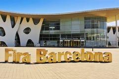 Fira de Barcelona i Barcelona, Spanien Arkivbilder