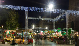 Fira de Santa Llucia in Barcelona Royalty Free Stock Images