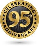 Fira den guld- etiketten för 95th årsdag, vektor Arkivfoto