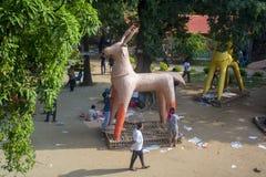 Fira det kommande Bengali nya året Royaltyfria Bilder