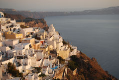 Fira at dusk  Santorini Royalty Free Stock Photos