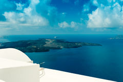 FIRA,GREECE-SEPTEMBER,02,2014:view of caldera in Fira,Santorini Royalty Free Stock Image