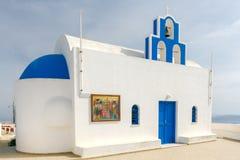 Fira. Greek church. Stock Photo
