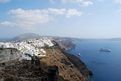 Fira from Imerovigli Santorini Royalty Free Stock Photography