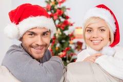 Fira jul tillsammans. Royaltyfri Fotografi