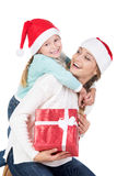 fira julfamiljen Arkivfoto