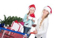 fira julfamiljen fotografering för bildbyråer
