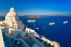 Fira, main town of Santorini, Greece Stock Photo