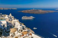 Fira, main town of Santorini, Greece Stock Photography