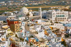 Fira, main town of Santorini, Greece Royalty Free Stock Photo