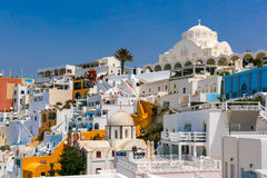 Fira, main town of Santorini, Greece Royalty Free Stock Photography
