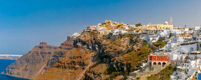 Fira, main town of Santorini, Greece Stock Image