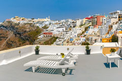 Fira, main town of Santorini, Greece Stock Photos