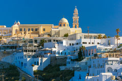 Fira, main town of Santorini in morning, Greece Stock Image