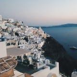 Fira miasteczko Santorini Fotografia Royalty Free