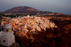 Fira miasto w Sanorini Zdjęcie Royalty Free