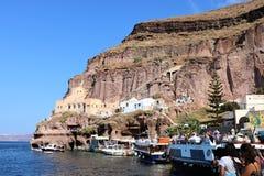 Port of Fira, Santorini, Greece Stock Photography