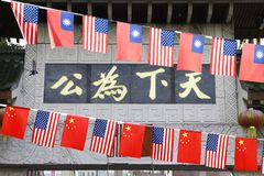 Fira nationella dagar på den Boston kineskvarteret royaltyfri bild