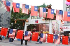 Fira nationella dagar på kineskvarteret, Boston royaltyfria foton