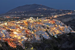 Fira by night Royalty Free Stock Images