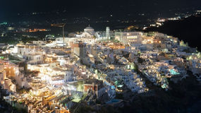 Fira by night Royalty Free Stock Photos