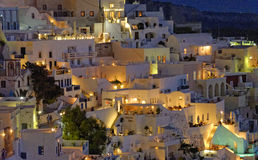 Thira at night Stock Images