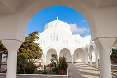 Fira Orthodox Metropolitan Cathedral Stock Photography