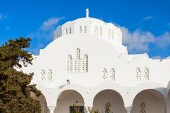 Fira Orthodox Metropolitan Cathedral Stock Photo