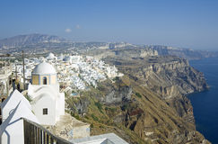 Fira panorama 2 with caldera view Royalty Free Stock Image