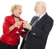 fira pensionärer arkivfoton