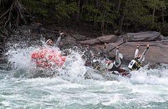 fira rafting lagseger Royaltyfri Foto