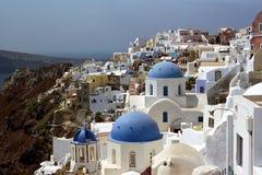 Fira Santorini ö, Grekland Arkivfoto