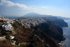 Fira Santorini, острова Кикладов Греция Стоковые Фото