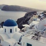 Fira Santorini imagens de stock