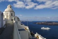 Fira Santorini Fotos de archivo libres de regalías