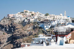 Fira Santorini Lizenzfreies Stockbild