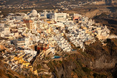 Fira, Santorini. Cityscape before sunset Stock Photography