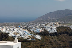 Fira on Santorini island. In the Cyclades (Greece Royalty Free Stock Image