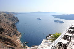Fira on Santorini Island. The Cyclades, Greece. Royalty Free Stock Images