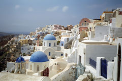Fira Santorini Island, Greece. Stock Photo