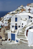 Fira Santorini Island, Greece. Fira or Santorini island or have a wonderful place in the Aegean Sea. Unique architecture this is the white houses on the slopes Stock Image