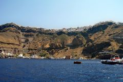 Fira From Sea Level Royalty Free Stock Image