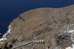 Fira Sessellift Santorini Lizenzfreies Stockbild