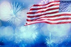 Fira självständighetsdagen i USA Arkivbilder