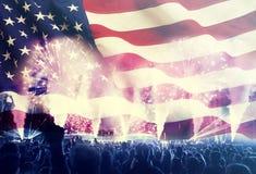 Fira självständighetsdagen i USA Fotografering för Bildbyråer