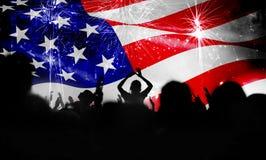 Fira självständighetsdagen i USA Arkivfoto