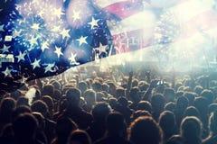 Fira självständighetsdagen i USA Royaltyfria Foton