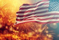 Fira självständighetsdagen i USA Arkivbild